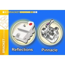 Bracket-uri ceramica slot metalic Encore! + bracket-uri metalice Pinnacle prescriptie MBT .022""